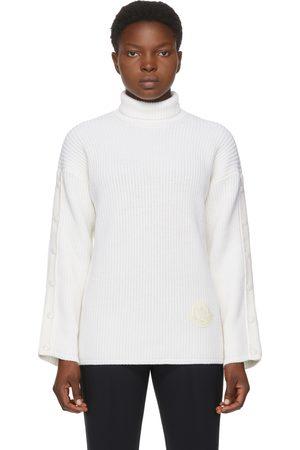 Moncler White Knit Turtleneck