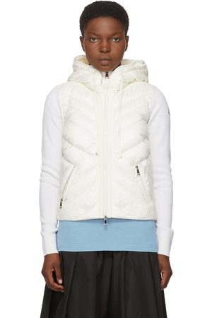 Moncler White Down Hooded Jacket