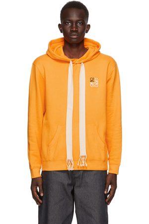 Loewe Orange Embroidered Anagram Hoodie