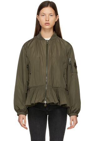 Moncler Dames Bomberjacks - Khaki Down Mirac Bomber Jacket