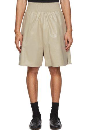 Bottega Veneta Off-White Shiny Leather Shorts
