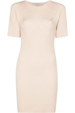 Stella McCartney Dames Feestjurken - Ribbed knitted mini dress