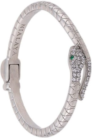 Nialaya Crystal-embellished snake bangle