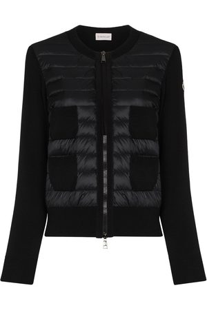 Moncler Padded-panel knitted cardigan