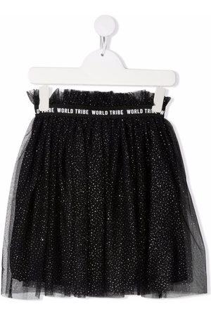 Le pandorine Metallic threading tulle skirt