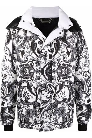 Philipp Plein New Baroque-print down coat
