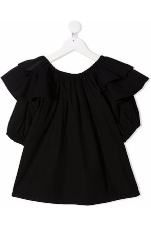 Le pandorine Ruffle short-sleeve blouse