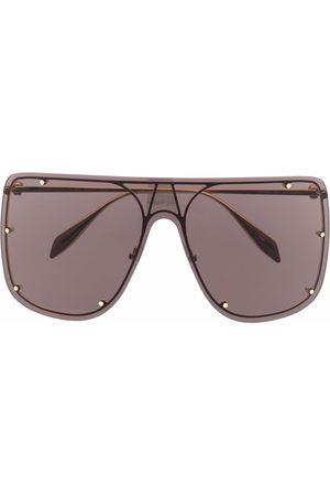 Alexander McQueen Zonnebrillen - Stud-detail aviator sunglasses