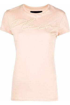 Philipp Plein Satin logo-embroidered T-shirt