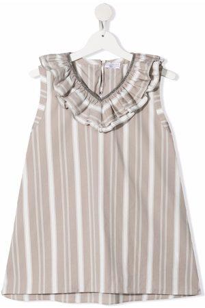 Brunello Cucinelli TEEN striped embellished sleeveless blouse