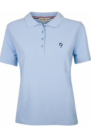 Q1905 Dames Poloshirts - Polo shirt square lt azul