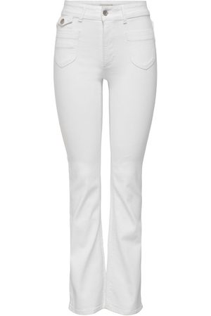 ONLY Onlebba High Waist Flared Jeans Dames White
