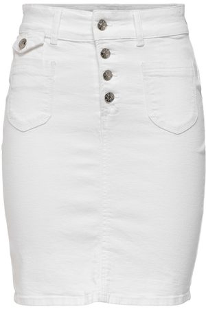 ONLY Gedetailleerd Denim Rok Dames White