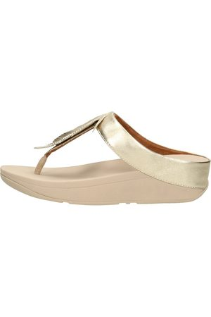 FitFlop Dames Sandalen - Fino Feather Toe-post Sandals