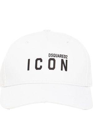 Dsquared2 Icon Thick Print Cotton Gabardine Cap