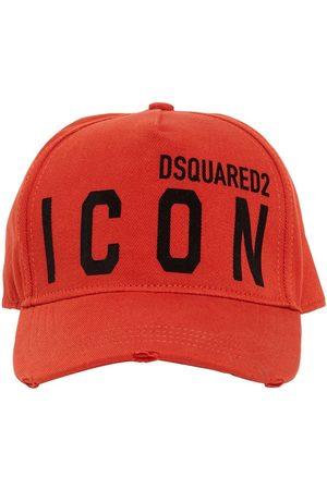 Dsquared2 Icon Flocked Cotton Gabardine Cap
