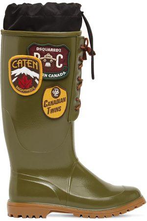 DSQUARED2 Heren Regenlaarzen - Rubber Rain Boots W/ Patches