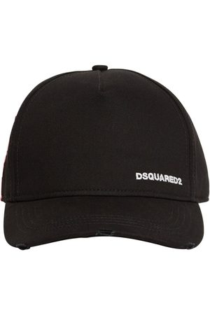 Dsquared2 Heren Petten - Small Logo Cotton Gabardine Cap