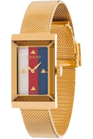 Gucci Rectangle stripe face watch