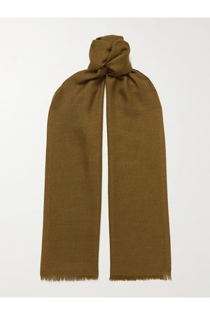 Loro Piana Heren Sjaals - Fringed Cashmere and Silk-Blend Scarf