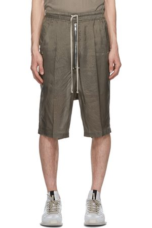 Rick Owens Heren Shorts - Grey Cupro Bela Pods Shorts