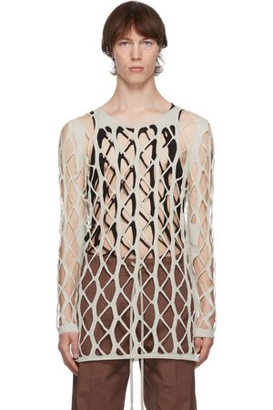 Rick Owens Heren Sweaters - Off-White Net Sweater