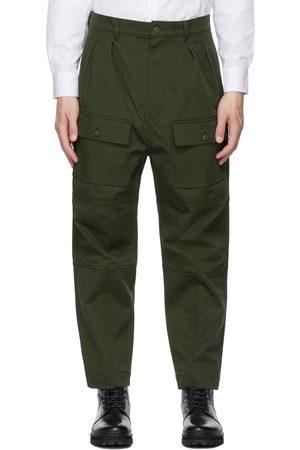 Maison Kitsuné Khaki Patched Pockets 2 Pleats Cargo Pants