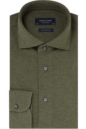 Profuomo Originale slim fit knitted overhemd met lange mouwen