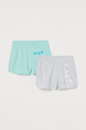 H&M Set van 2 sweatshorts - Turquoise