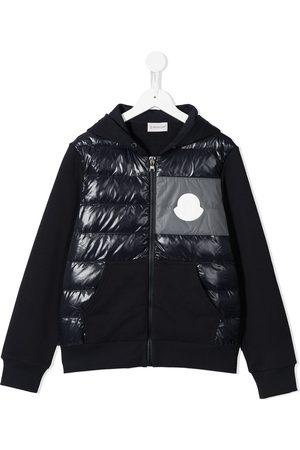 Moncler Padded-panel zip-up hoodie