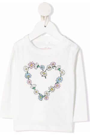 Stella McCartney Sweaters - Floral heart cotton sweatshirt