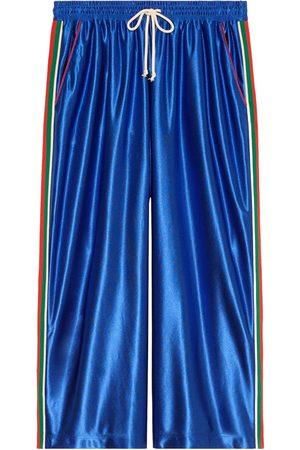 Gucci Heren Joggingbroeken - Web detailing wide-legged track pants