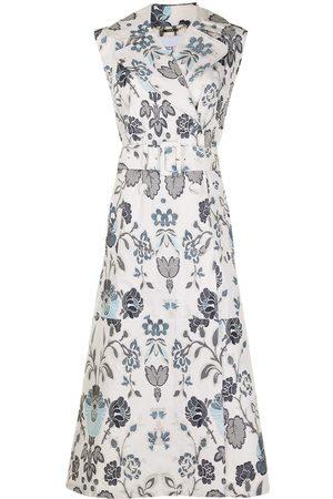 Erdem Floral-embroidered Vest-coat dress
