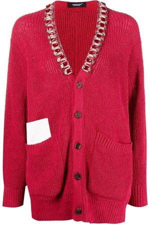 UNDERCOVER Gemstone-detailed knitted cardigan