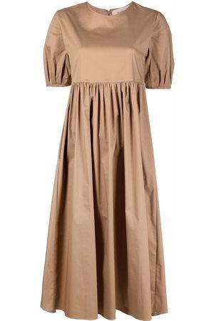 BLANCA Dames Korte jurken - Gathered short-sleeved dress