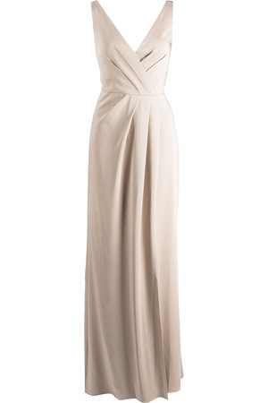 Marchesa Notte Cowl-effect floor-length gown