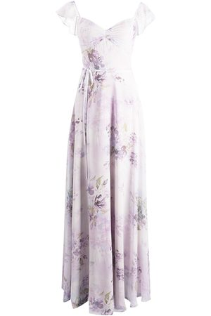 Marchesa Notte Dames Feestjurken - Floral-print floor-length dress