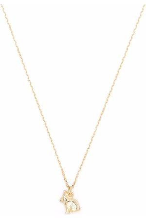 Alex Monroe Dames Kettingen - 18kt yellow Teeny Tiny Rabbit pendant necklace