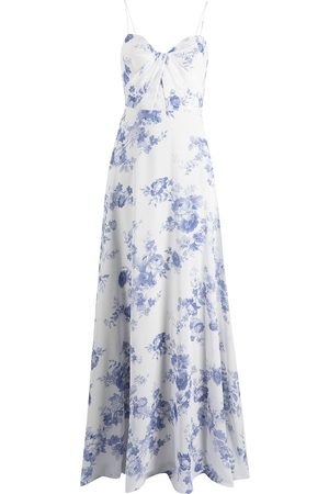Marchesa Notte Floral-print floor-length gown