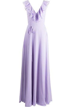 Marchesa Notte Dames Feestjurken - Ruffle-trim floor-length gown