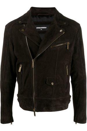 Dsquared2 Heren Leren jassen - Suede biker jacket