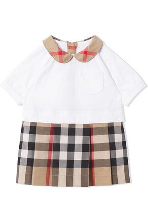 Burberry Short-sleeve check-detail dress