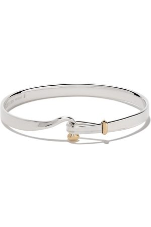 Georg Jensen Sterling silver and 18kt yellow gold Torun bangle