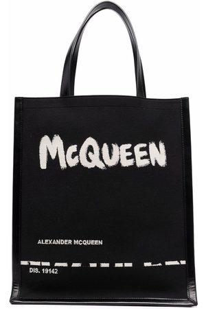Alexander McQueen Logo-print clutch bag