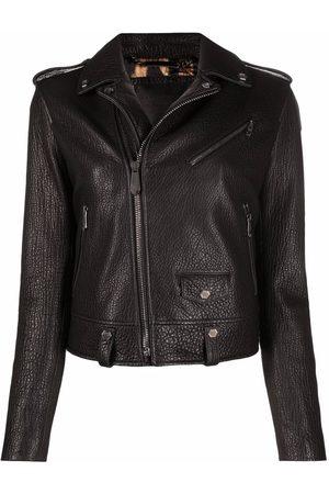 Philipp Plein Iconic leather biker jacket