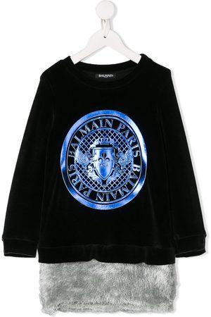 Balmain Meisjes Casual jurken - Medallion logo jumper dress