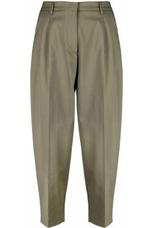 BLANCA Dames Capri's - Pressed-crease cropped trousers