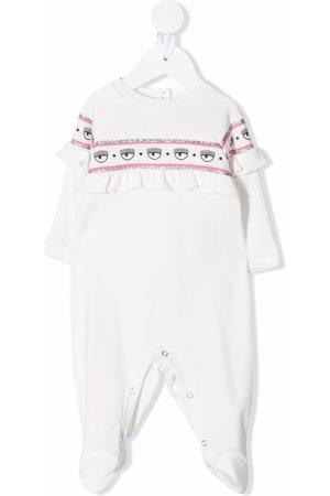 Chiara Ferragni Logo-tape cotton pyjamas