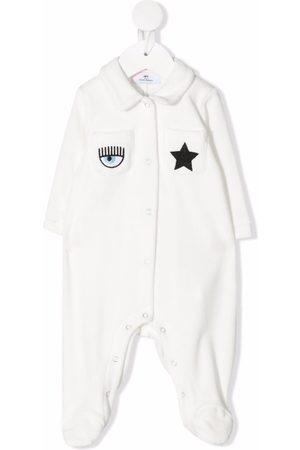 Chiara Ferragni Embroidered patch-pocket pyjamas