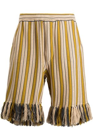 CMMN SWDN Alvar knitted drawstring shorts